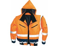 Warnschutz-Pilotenjacke orange/blau Asatex