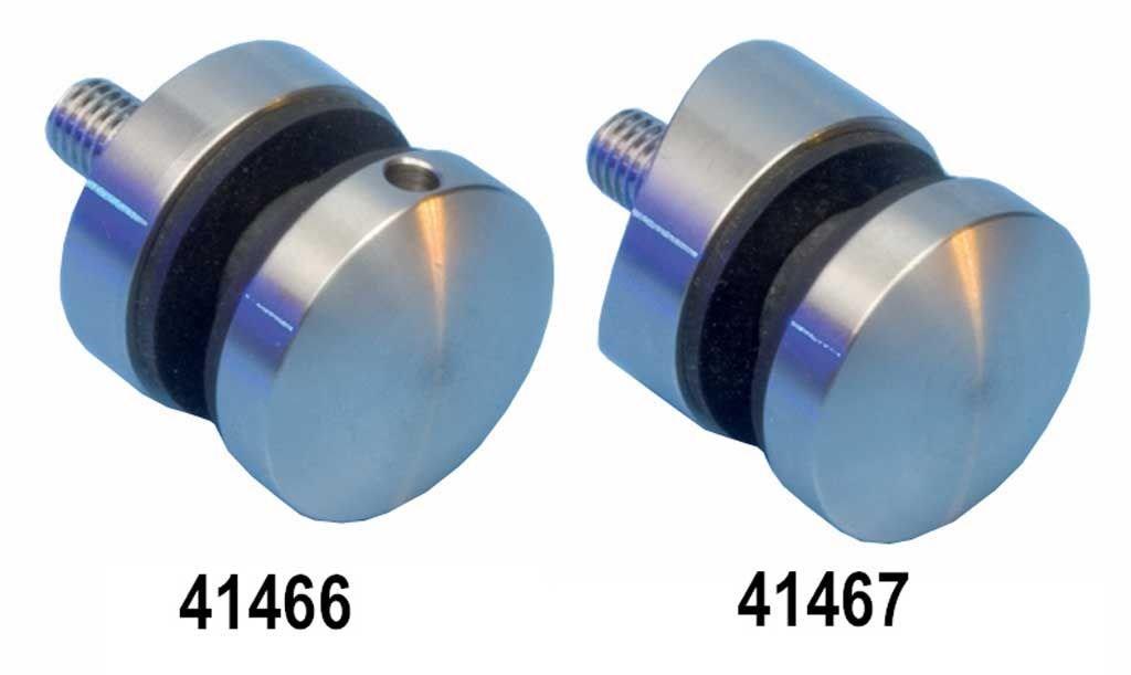 Edelstahlhandlauf L/änge 0,3m Enden mit halbrunde Kappe 6m aus einem St/ück und unterschiedlichen Endst/ücken zum Ausw/ählen /Ø 33,7 mm mit gerade Halter zum Beispiel: L/änge 180 cm mit 2 Halter