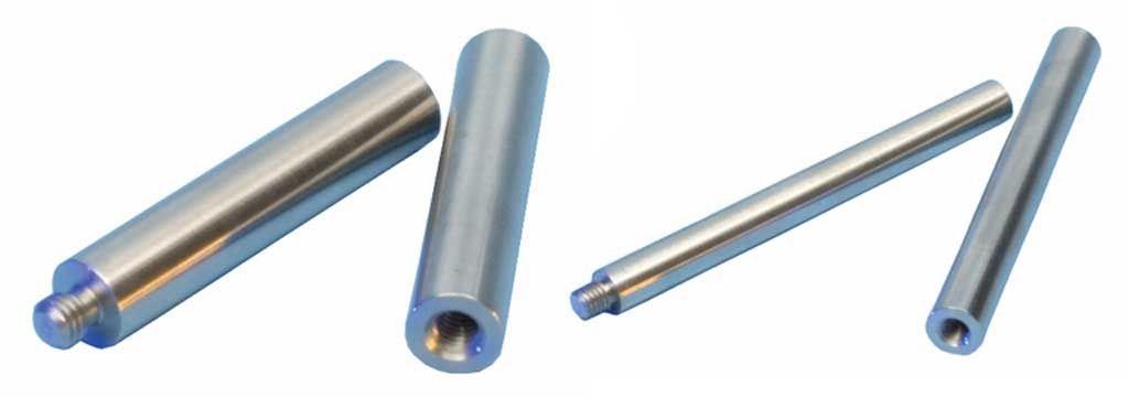 Beispiel:L/änge 570 cm mit 6 Halter Edelstahlhandlauf L/änge 0,3m 6m aus einem St/ück /& unterschiedlichen Endst/ücken zum Ausw/ählen /Ø 42,4 mm mit gewinkelte Halter Enden mit gerade Kappe