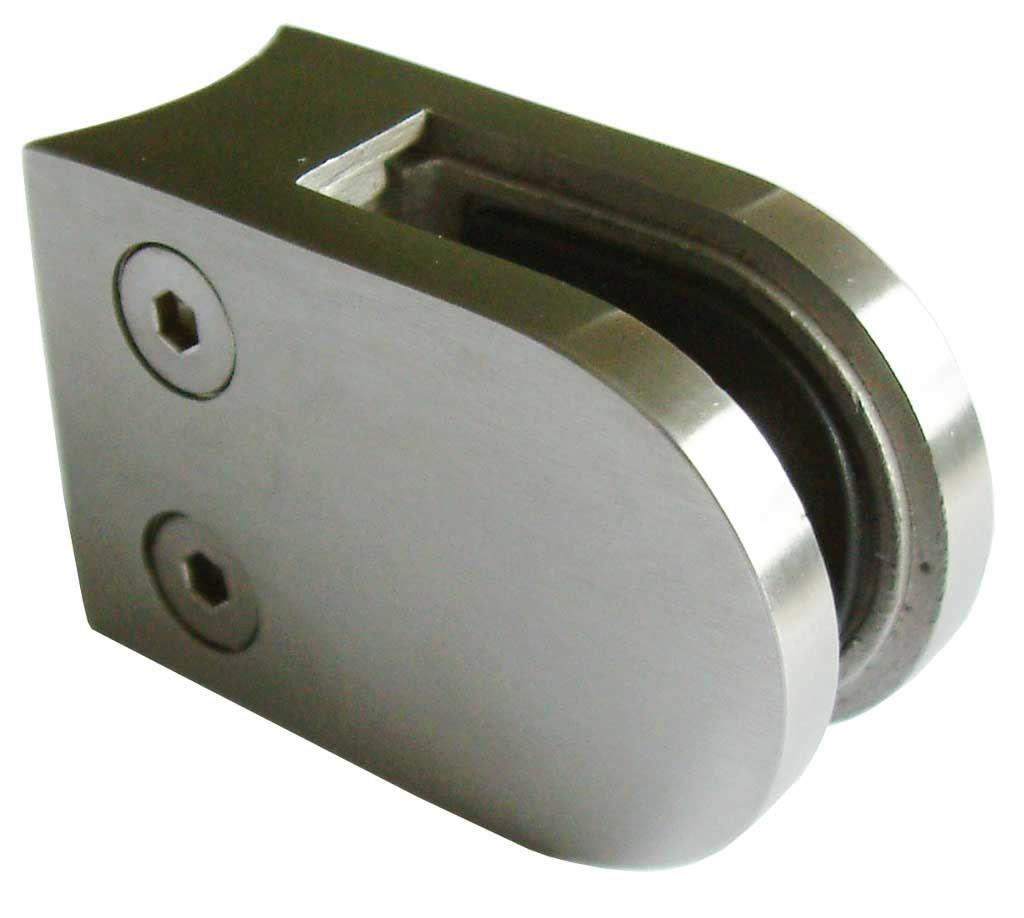 Edelstahlhandlauf L/änge 0,3m 6m aus einem St/ück /& unterschiedlichen Endst/ücken zum Ausw/ählen /Ø 42,4 mm mit gewinkelte Halter Enden mit gerade Kappe Beispiel:L/änge 480 cm mit 5 Halter
