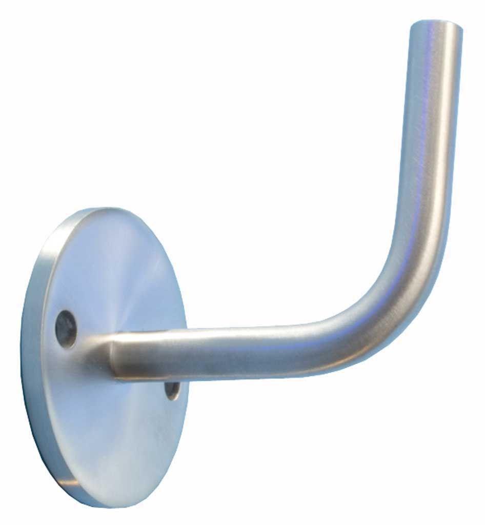 6m aus einem St/ück und unterschiedlichen Endst/ücken zum Ausw/ählen /Ø 33,7 mm mit gerade Halter Edelstahlhandlauf L/änge 0,3m zum Beispiel: L/änge 500 cm mit 6 Halter Enden mit leicht gew/ölbte Kappe