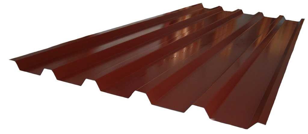 Dachblech Beschichtung 25 /µm Farbe Rotbraun Profilblech Trapezblech St/ärke 0,75 mm Material Stahl Profil PS20//1100TR