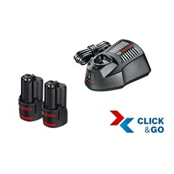 Basis-Set 12 V 2 x 3,0 Ah clic & go Bosch