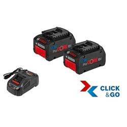 Basis-Set 18 V ProCore 2 x 7,0 Ah clic & go plus Bosch