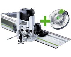 Oberfräse OF 1010 EBQ-Set + Fräsbox 10-tlg. Festool